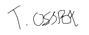 Government minister signature