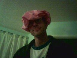 Stef in shower cap