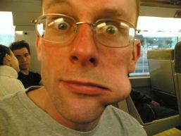Stef Toblerone face