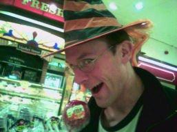 Stef tries the Hallowe'en hat