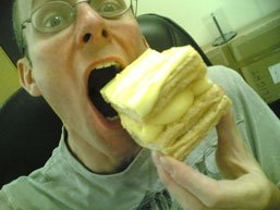 Stef and custard slice