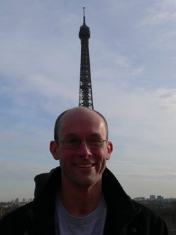Stef with Eiffel tower head