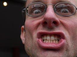 Stef bares teeth