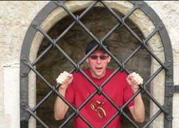 Stef locked in a Convent prison in Tallinn