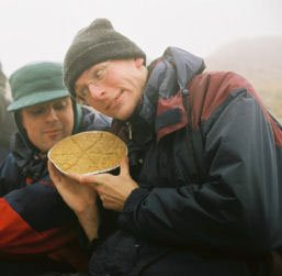 Stef models corner shop flapjack on Snowdon