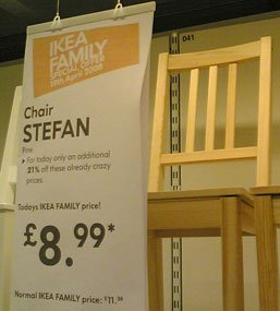 Stef is delighted to share his name with an item of cheap Ikea furniture